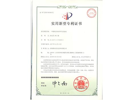 杯突專利證書